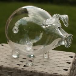 Pokladnička sklenené prasiatko