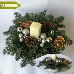 Arrangement of Noble Fir - round, white