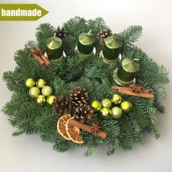Advent Wreath of Noble Fir - round, green
